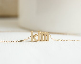 Gold name necklace custom necklace letter necklace name necklace gold name necklace personalized jewelry monogrammed gift custom necklace gold necklace aloadofball Images