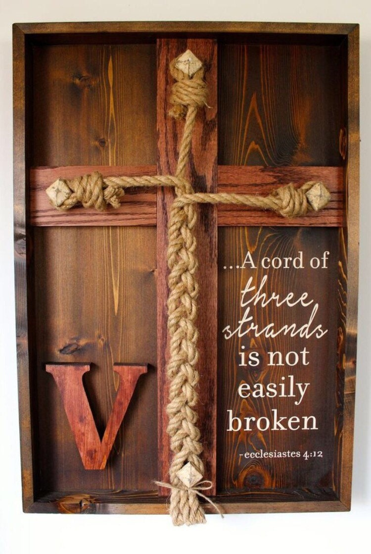 Wedding Unity Ceremony Braid W/Ecclesiastes 4:12 Scripture