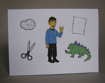 Rock Paper Scissors Lizard Spock, funny Big Bang Theory card - Rock, Paper, Scissors, Lizard, Spock!