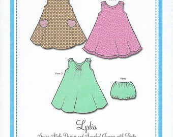 Bonnie Blue Pattern #109 / LYDIA / Sizes 6 mo - 24 mo and 2 yr - 6 yr