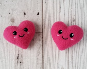 Heart Plush Kawaii Hair Clips