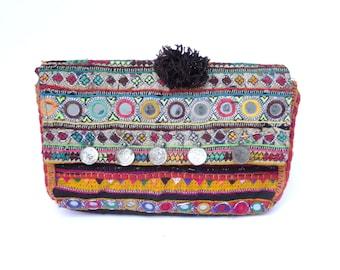 Vintage Indian Fabric Taj Bag 3