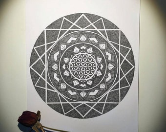 Mandala Print A5