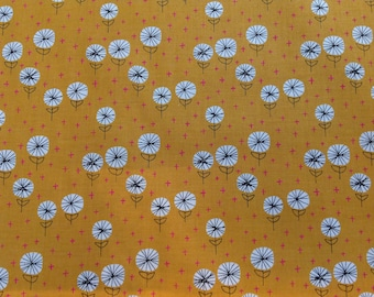 Dandelions in Carrot by Sarah Golden for Andover Fabrics pattern 8763 color O