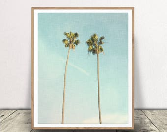 Palm Tree Print, Digital Download, Palm Trees Jpeg, Beach Art,  Beach Decor, Printable,  Palm Tree Print, Minimalist Art, Two Palm Trees