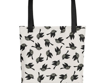 Blackbirds Tote Bag 15 X 15
