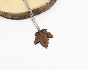 Maple Leaf Necklace | Laser Cut Nature Jewellery