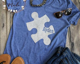 Custom Autism mom shirt, autism awareness shirt, strong autism mom shirt, autism shirt, autism awareness month shirt, puzzle piece shirt
