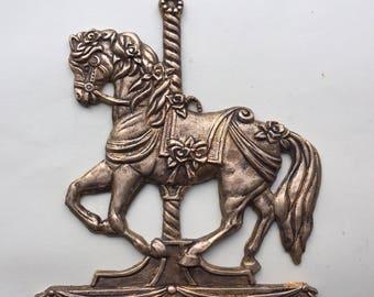 Carousel horse nursery applique decorative embellishment