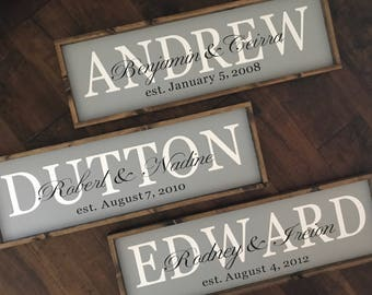 Personalized Established Date Sign | Anniversary Sign | Wedding Sign | Family Name Sign | Wood Sign | Farmhouse Sign | Farmhouse Style Decor