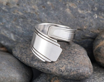Silverware Handle Ring (Spoon Ring) Size 7 1/2 SR126