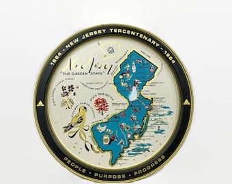 Vintage New Jersey Souvenir Tray