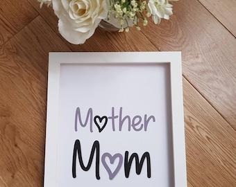 Mother Mum A4 textured print