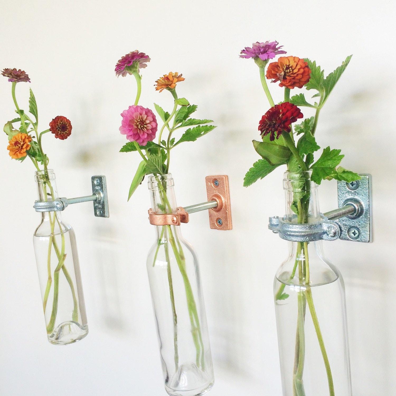 12 wine bottle wall flower vases wall vase wall decor zoom reviewsmspy