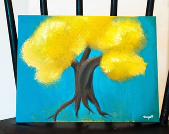 Yellow Pom Pom Tree