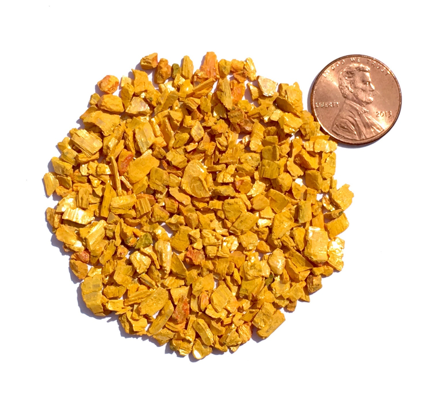 Crushed Gemstone For Inlays : Crushed orpiment stone inlay coarse ounce from