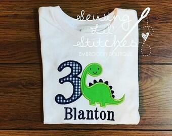 Dinosaur Birthday Shirt - Personalized with name