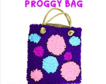 Proggy® Purple Spotty Bag Rag Rug Kit
