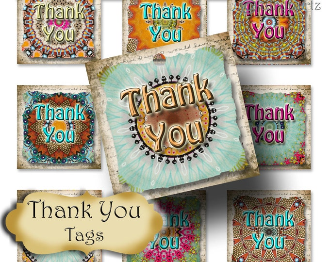20-DIY Land Down Under SQ Tags•Gift Tags•Paper Tags•Price Tags•Clothing Tags•Thank you tags