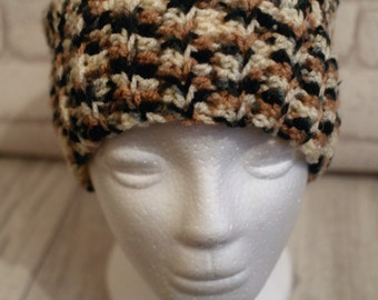 MADE TO ORDER Ponytail, messy bun hat, crochet, joggers hat, brown, cream, black