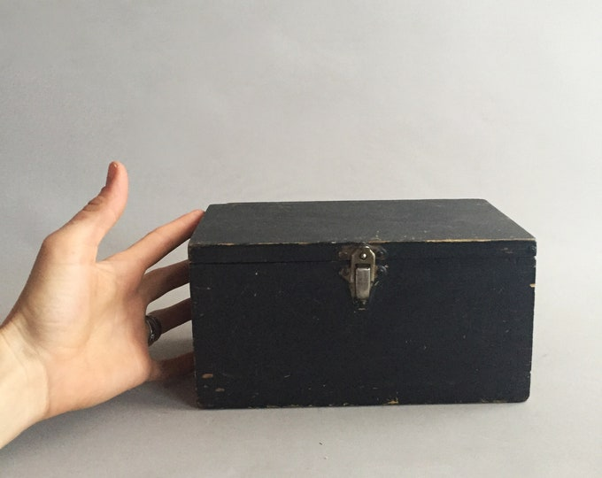 small black wooden box