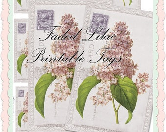 Faded Lilac Printabe Tags