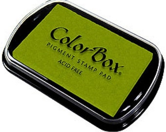 Moss Green ColorBox Pigment Archival Stamp Pad Inkpad - Crafts - Stamper - Cards - Invites - Supplies
