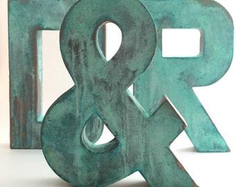 Faux Metal Letters - Oxidized Copper - Metal - Farmhouse - Antique - Patina - Aged - Vintage - Industrial - Decorative - Rustic - Old
