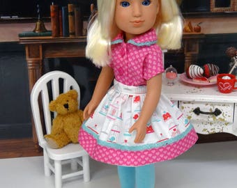 Love Birds - Blouse, skirt, tights & shoes for Wellie Wisher doll