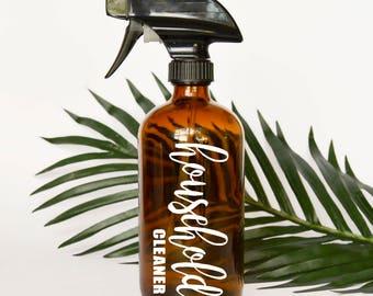 Household Cleaner Spray Bottle Label