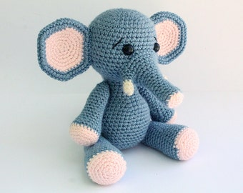 PATTERN : Elephant -Amigurumi Elephant pattern-Crochet pattern-Knitted - Stuffed animals- doll-toy-baby shower
