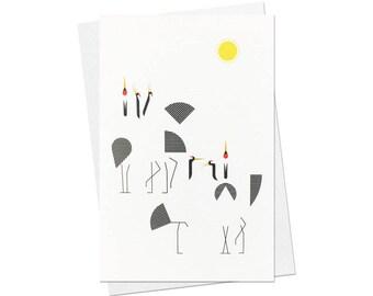 87 / card / red-crowned crane