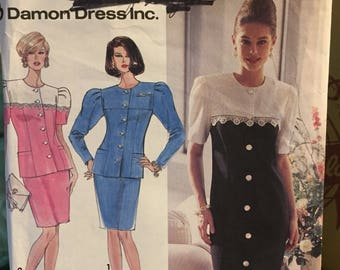 Misses' Dresses Simplicity 7669 size 6-10, Bust 30-32 inches Complete Sewing Pattern