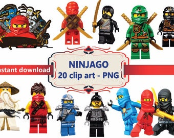 INSTANT DL- Ninjago clipart png - printable Digital Cliparts Graphic sticker Instant Download