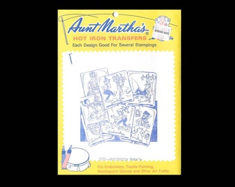 Aunt Martha's Hillbilly Doin's - Embroidery Transfers 3761 - UNCUT - Hot Iron Sewing Transfer - DIY Needlecraft Motifs - Days of the Week