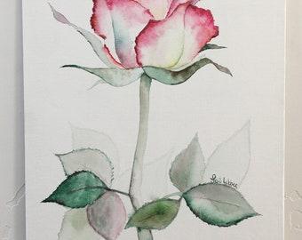 Rose Original Watercolor Painting