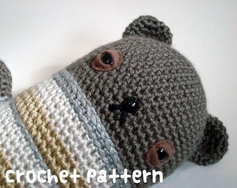 CROCHET PATTERN - Amigurumi Teddy Bear - PDF Instant Download - Baby Shower Gift