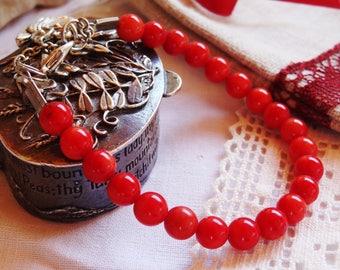 Bracelet red shell - gift idea