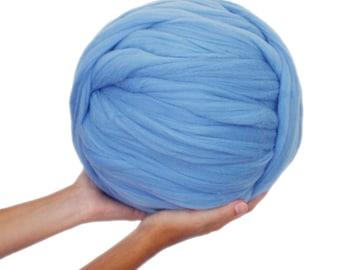 Merino Wool Ball XXL super chinky. Blue Horizon Color. 1 kilo