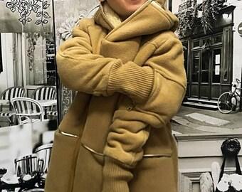 Hooded jacket cozy fleece lined coat for boys, Soft winter coat with zipper, Cold weather coat, kids warm hooded jacket toddler boy
