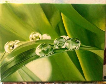 Original oil painting on canvas, hyperrealism style, realism