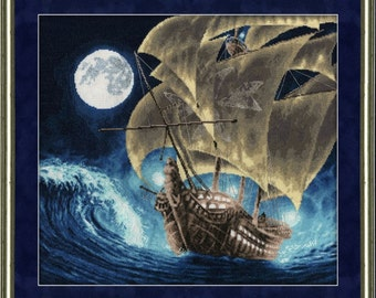 """Counted Cross Stitch Kit GOLDEN FLEECE - """"Distant shores"""""""