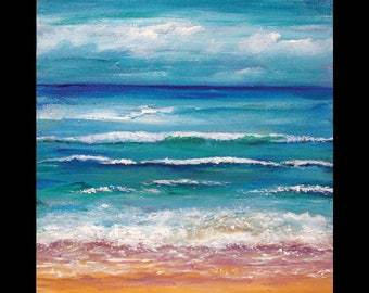 Beach Painting - Original Acrylic on Wrapped Canvas By Mary Bridges