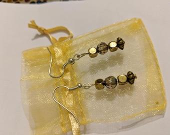 Metallic Mixed Bead Earrings