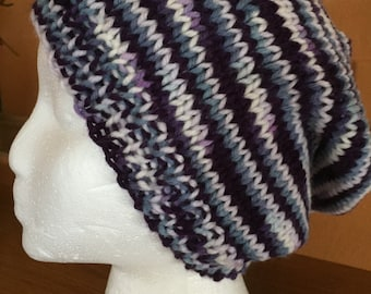 Purple impressions slouchy hat