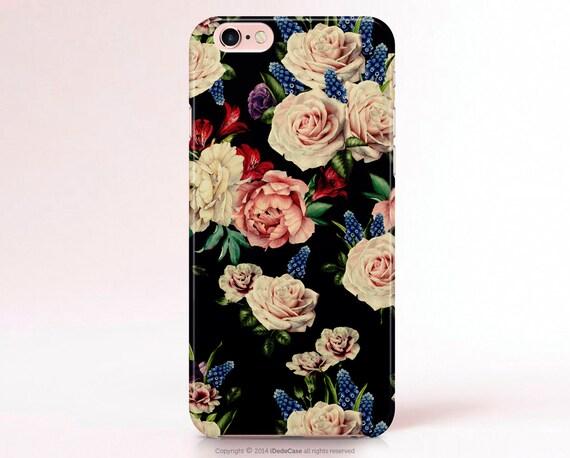 TOUGH iPhone 7  Case Floral iPhone 6s Plus Case Vintage Floral iPhone SE Case Samsung Galaxy S7 Case LG G4 Case Samsung Galaxy S6 Case