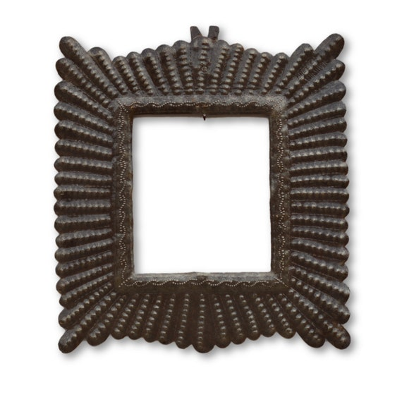 Frame,  Quality Handcrafted Haitian Metal Sculpture, One-of-a-Kind 14 x 13
