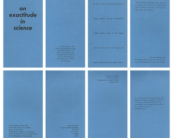 On Exactitude in Science -- a letterpress pamphlet with a Borges story