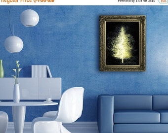 80% Until New Year - Christmas tree print, Light Christmas Digital Print Christmas Wall Decor Prints A4/A3 Instant download Light Christmas