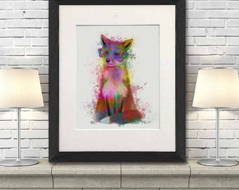 Fox woodland art - Fox 1 Print - Fox decor Nursery fox decor Fox wall art Funny fox decor Fox nursery theme Fox wall art print Woodland fox